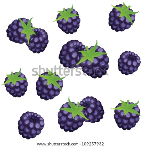 berries vector seamless