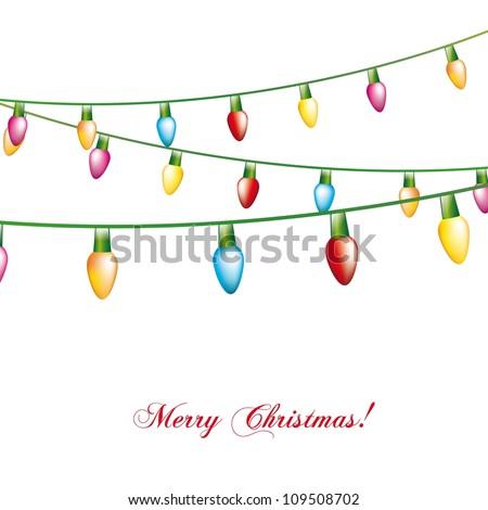 christmas lights isolated over