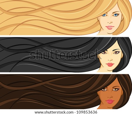 girls with beautiful hair