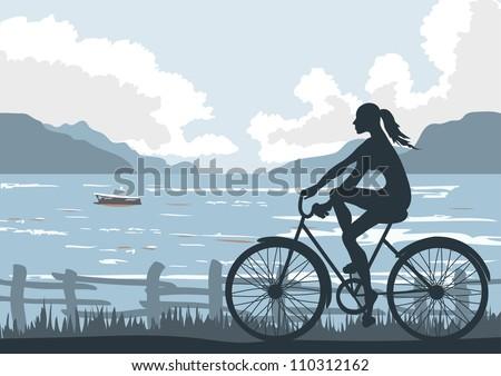 on seaside  file illustrator 8
