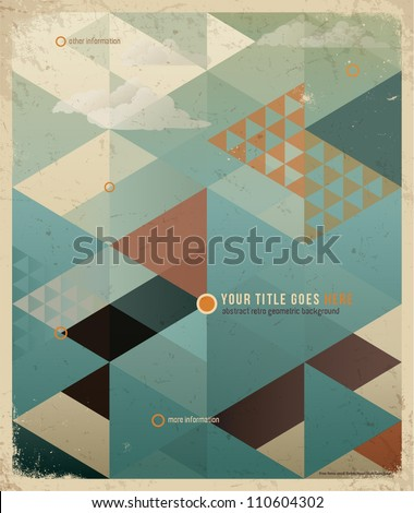 abstract retro geometric