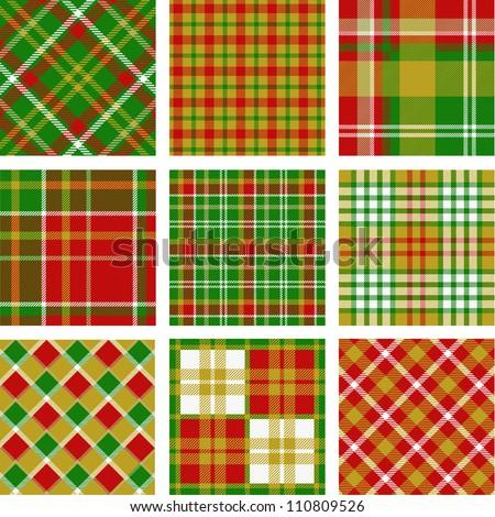 christmas plaid patterns