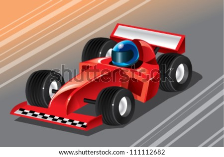 racing car cartoon