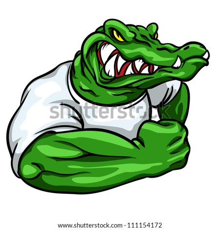alligator mascot  team logo