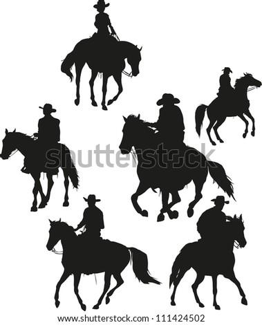 cowboy vector set