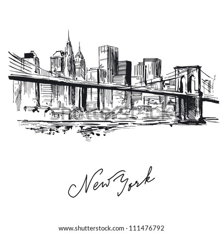 Vector images illustrations and cliparts new york hand for Disegni new york