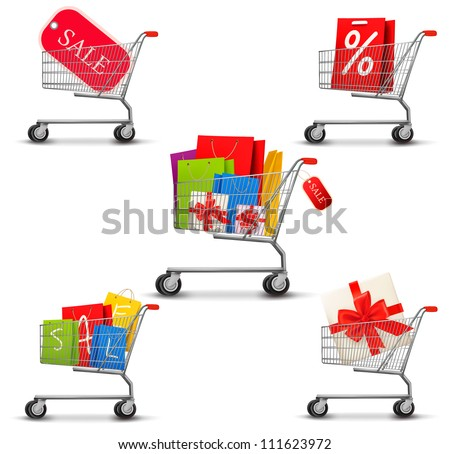 collection of shopping carts