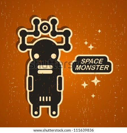 retro monster vintage robot