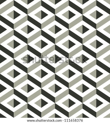 3d shapes seamless pattern