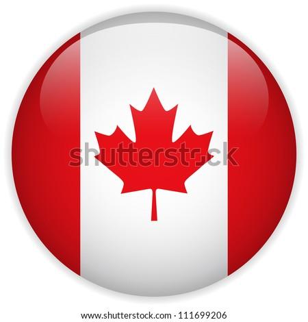 vector   canada flag glossy