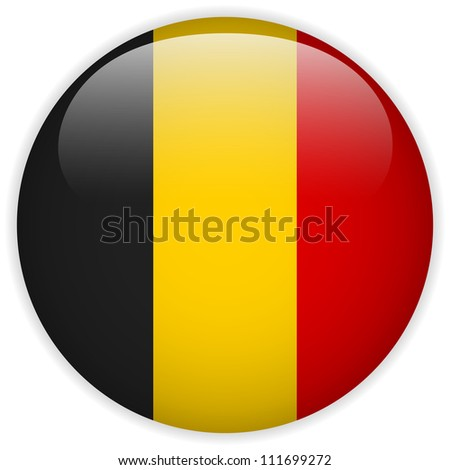 vector   belgium flag glossy
