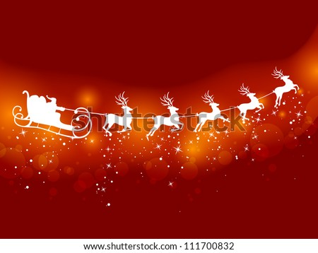 vector illustration of santa