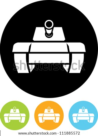 tank   vector icon isolated