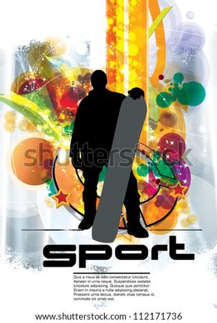 snowboarder sport poster