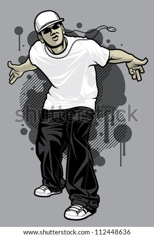 urban male tshirt model vector