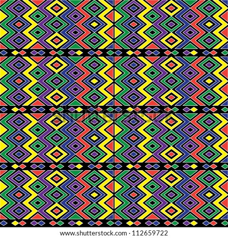 seamless zigzag african pattern