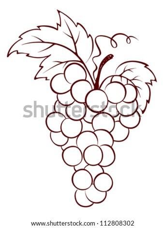 Bunch of Grapes Clip Art