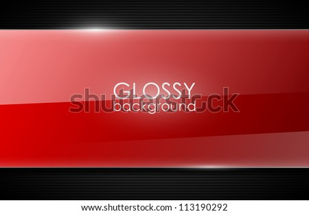 vector glossy background
