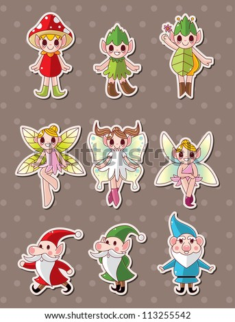 cartoon little baby fairy