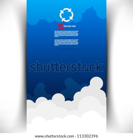 eps10 vector cloud background