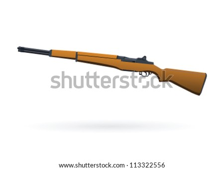 illustrated rifle on white
