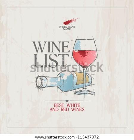wine list menu card design