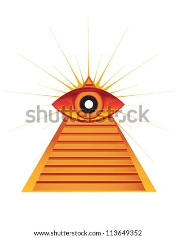 pyramid with eye