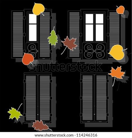 open and clothe autumn window