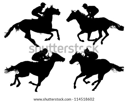 horse racing silhouette on