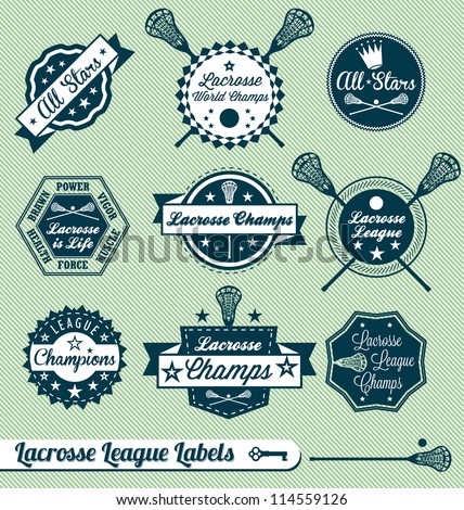 vector set  vintage lacrosse