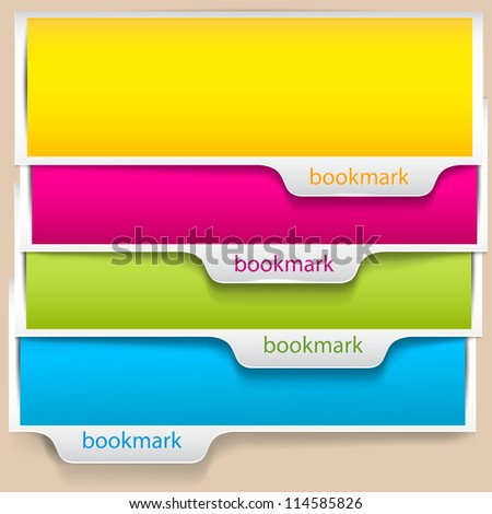 colorful bookmarks and banners