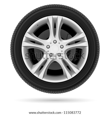 car wheel illustration on