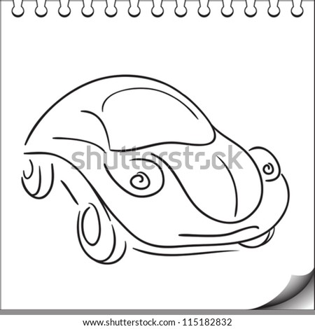 car character sketch on white