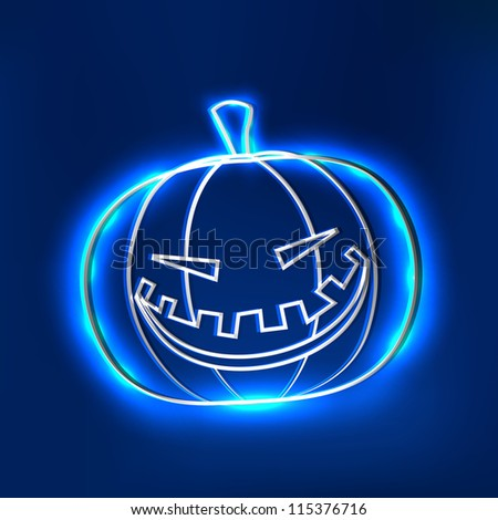 smiling scary halloween pumpkin