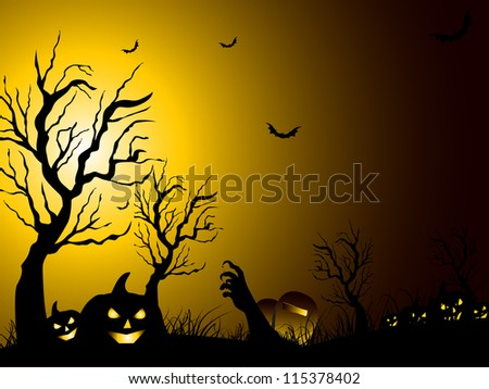 scary halloween night
