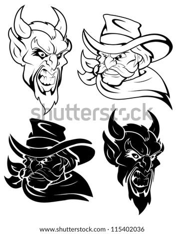 evil mascot vector character