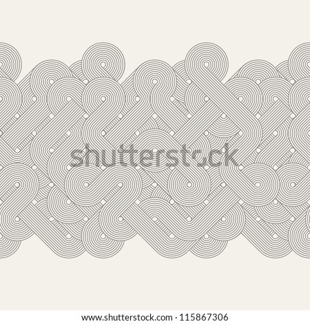 seamless abstract border