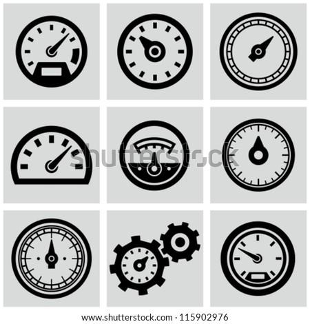 meter icons set