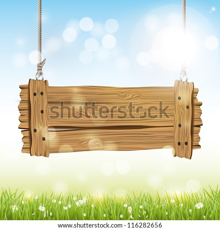 spring vector background with