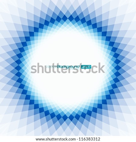 blue and white shape design