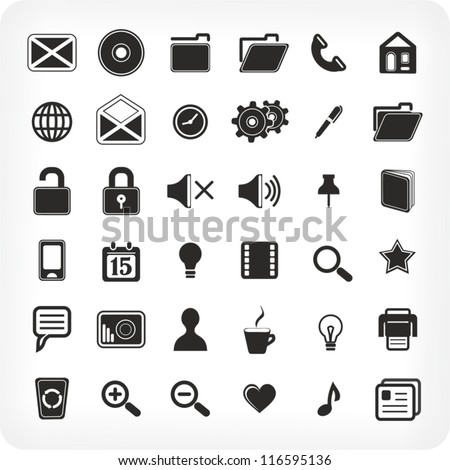 36  new black icons