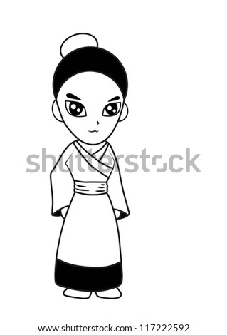 woman vector cartoon