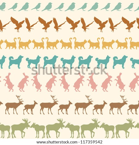 pattern with animals