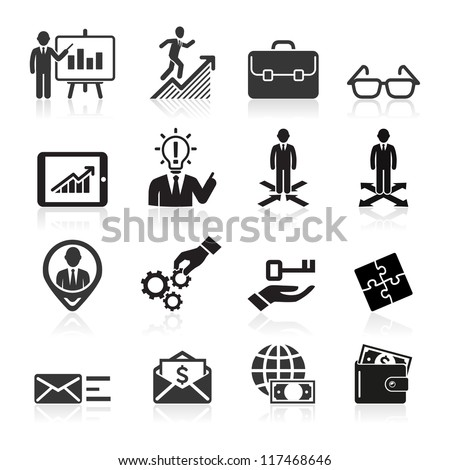 business icons  management and