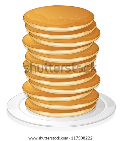illustration of  pancakes in a