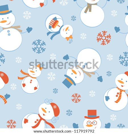 cute colorful frosty seamless