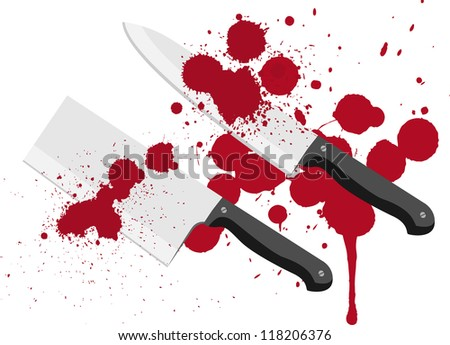 bloody knife with blood