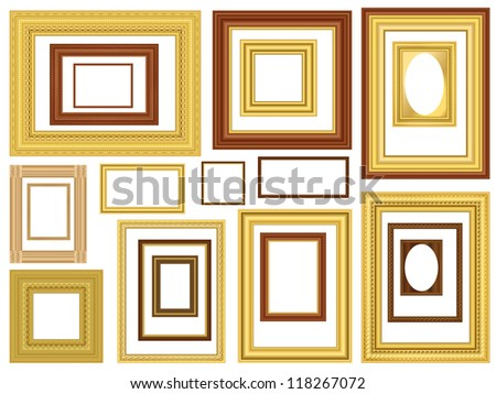 decorative gold and wooden