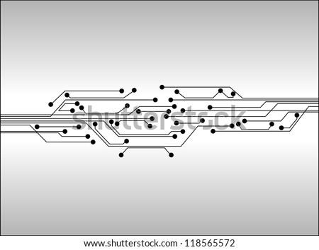 circuit board digital background