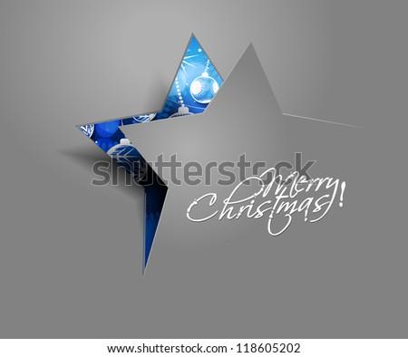 modern abstract christmas star